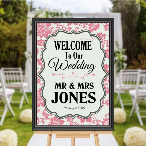 Personalised Welcome to our Wedding Sign Poster Banner - Print N171